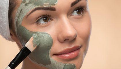 groene klei of groene leem masker